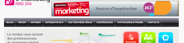 Présence au salon du e-marketing Paris 2014