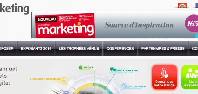 Présence au salon du e-marketing Paris 2014