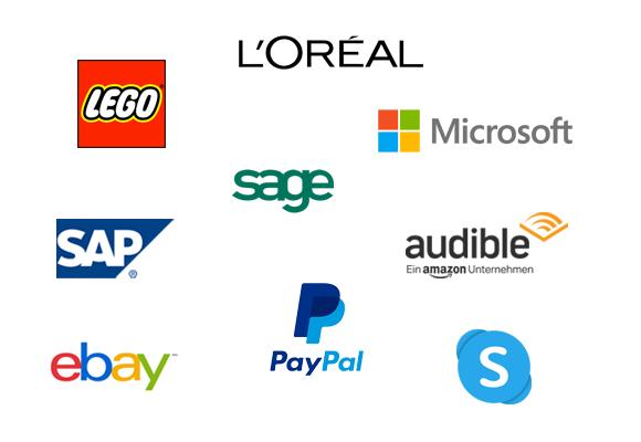 L'Oréal Lego Sage Microsoft SAP PayPal Skype ebay