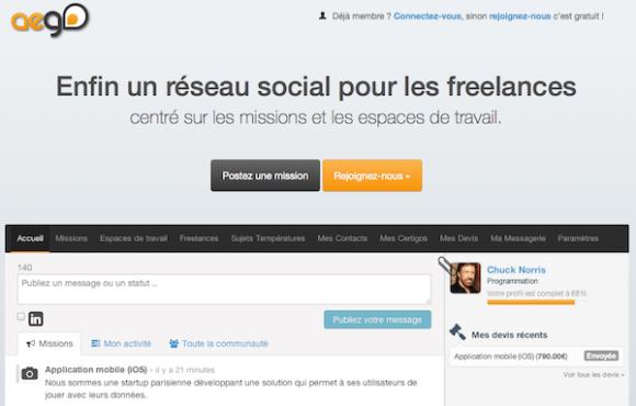 Aego ou le facebook du freelance... ou son myspace ?