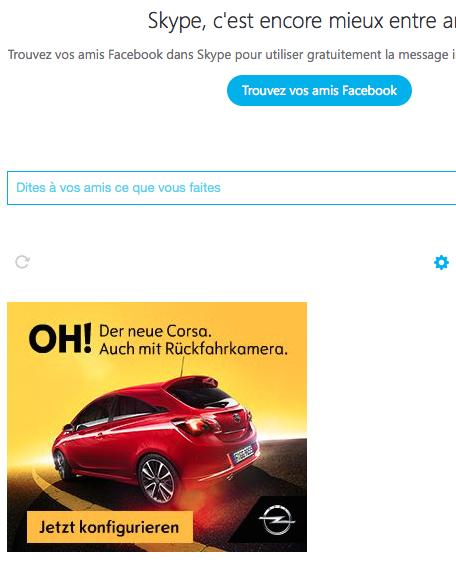 Stereotexte – pub Opel en allemand sur Skype