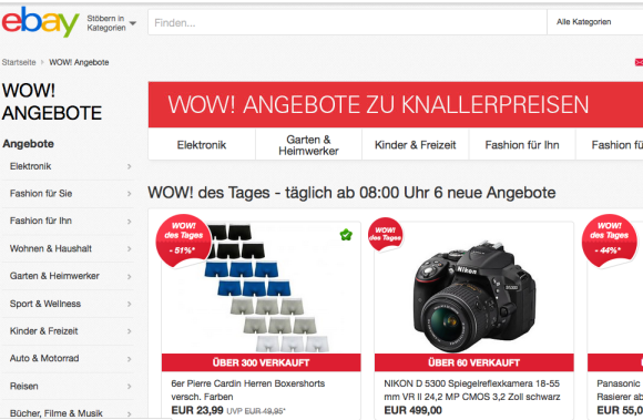 Stereotexte – campagne eBay WOW !