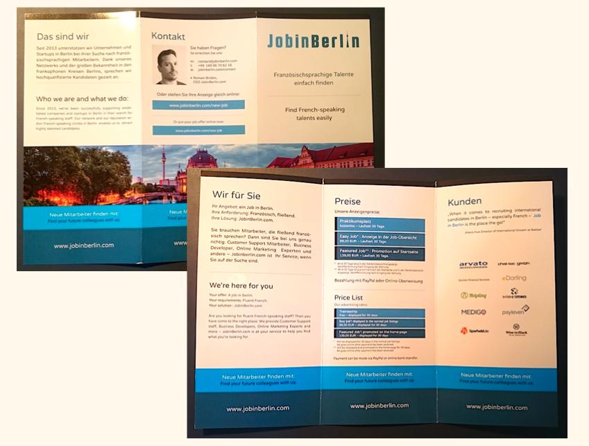 Leaflet JobinBerlin en deux langues